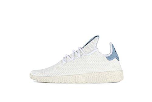 adidas Originals Mens Pharrell Williams Human Race White/White/Blue 4 D US D (M)