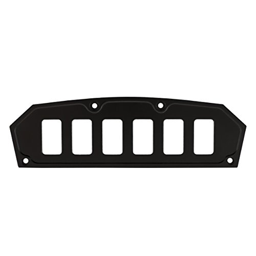 STV Motorsports Custom Rocker Switch Dash Panel for Can Am Maverick & Commander (no switches included) (6, Black)