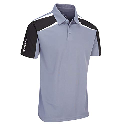 Stuburt Golf 2019 Mens Evolve Performance Polo Polo de Golf Respirant Storm Small