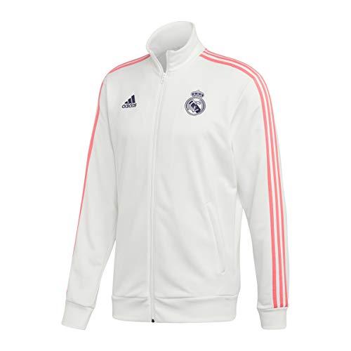 Adidas Real Madrid Temporada 2020/21 Chaqueta con Cremallera Oficial, Unisex, Blanco, S