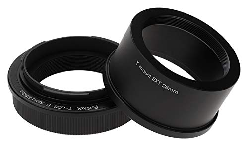 Fotodiox Lens Adapter Astro Edition - Compatible with T-Mount (T/T-2) Screw Mount Telescopes to Canon RF (EOS-R) Mount Cameras for Astronomy