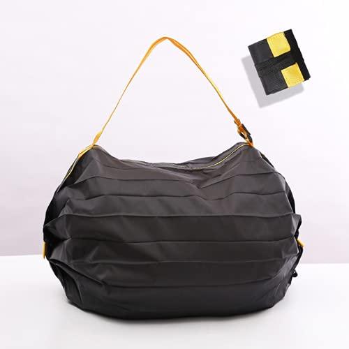 OQSM Bolsa de compras plegable Bolsa impermeable ecológica Bolsa de compras plegable (negro)