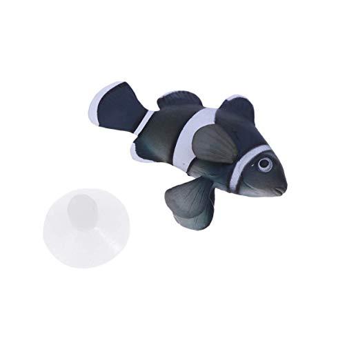 ZHTY Aquarium Dekoration - Schwimmende Plastik Clownfische für Aquarium Dekorationen - Silikon Künstliche Fische Schwimmende Landschaft - Aquarium Ornament