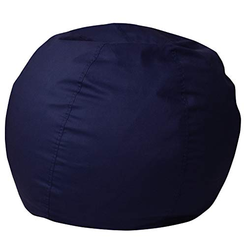 Flash Furniture Small Solid Navy Blue Kids Bean Bag Chair