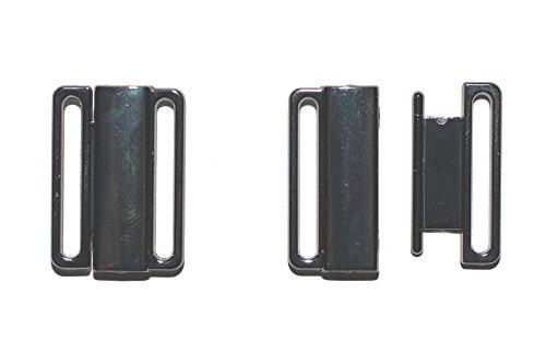 dalipo 14001 - Bikini-Verschluss mit klick, 2 Paar, Metall, 20mm