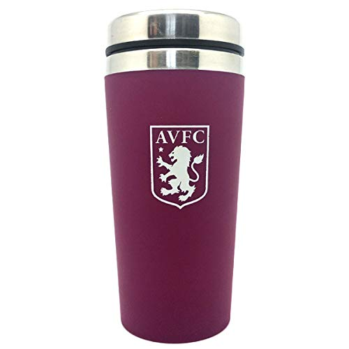 Aston Villa F.C. Handless Aluminium Travel Journey mug