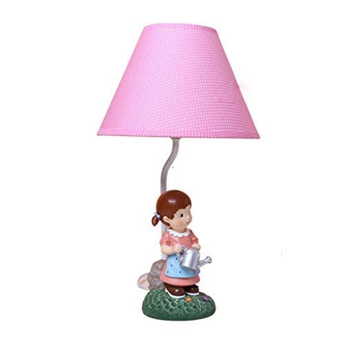 Lfixhssf Creatieve persoonlijkheid Roze meisjes tafellamp lampenkap van stof licht kinderkamer nachtlicht cadeau voor kinderen Night Light E27 LED Light Desk Lfixhssf