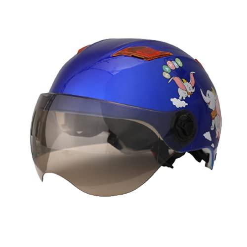 Medio casco para niños Casco de Motocicleta con Visera, Adecuado para ciclomotores, Scooters, cruceros, Pase la Prueba de colisión para Cumplir DOT/ECE Certified C,48-58CM