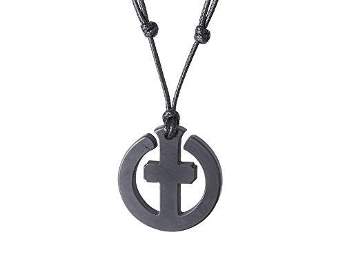 Shungite Stone Necklace Celtic Cross Pendant