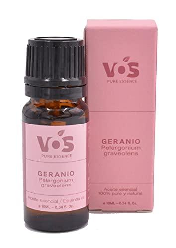 Aceite esencial de Geranio - 100% Puro y natural - Para tonificar y nutrir la piel, cicatrizante - 10ml