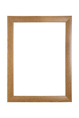 EUROLine35 mm Bilderrahmen für 55 x 53 cm Bilder, Farbe: Eiche Rustikal, inkl. entspiegeltem Acrylglas und MDF Rückwand, Rahmen Breite: 35 mm, Außenmaß: 60,8 x 58,8 cm