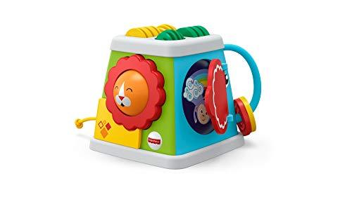 Fisher-Price FYK64 - Safari Entdeckerwürfel mit 5 Spielmöglichkeiten, Baby Spielzeug ab 6 Monaten