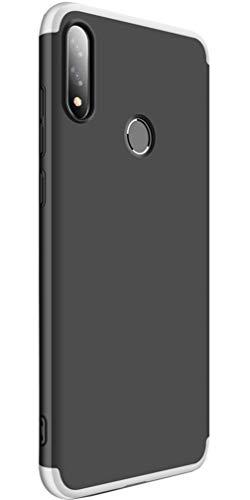 XINFENGDI Asus Zenfone Max Pro(M2)/ZB631KL Hülle, Ultra Dünn PC Plastik Schutzhülle Telefon Schutz Von Fallen Und Schock mit Bildschirmschutz für Asus Zenfone Max Pro(M2)/ZB631KL - Silber schwarz