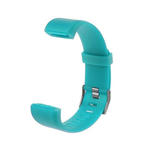 XUEMEI Más Banda De Muñeca Correa Rojo Negro Azul Púrpura Verde Reemplazo Silicona Reloj Reloj Inteligente Reloj (Color : Sky Blue)