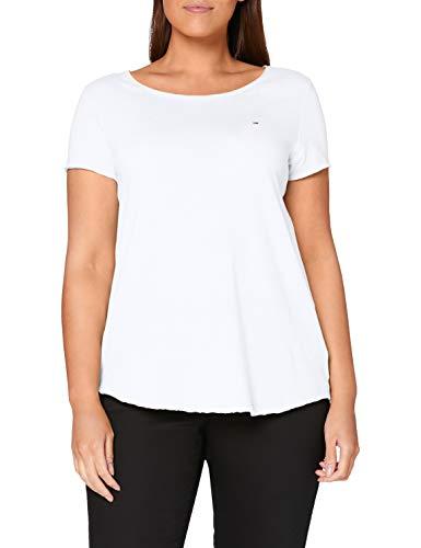 Tommy Hilfiger Basic Knit Camiseta, Blanco (Bright White), X-Small para Mujer