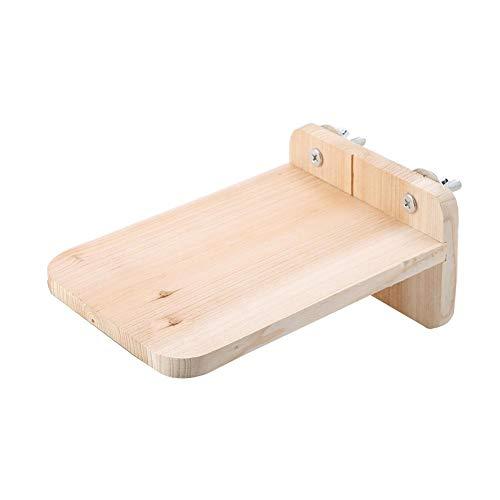 Zerodis houten platform met schroeven natuurlijk houten standaard ToyLong houten platform Hamster staande baars huisdierspeelgoed voor hamsters eekhoornkooi klein huisdierspeelgoed