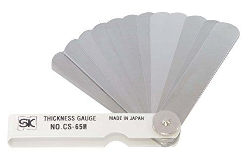 新潟精機 SK シクネスゲージ(すきまゲージ) カラースリーブタイプ 白 25枚組 75mm CS-65M 0.03-1.00mm