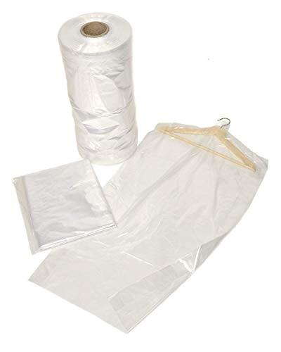 bag it Plastics Garment Clothes Covers 24' x 72' 609mm Wide x 1828mm - Pack of 50