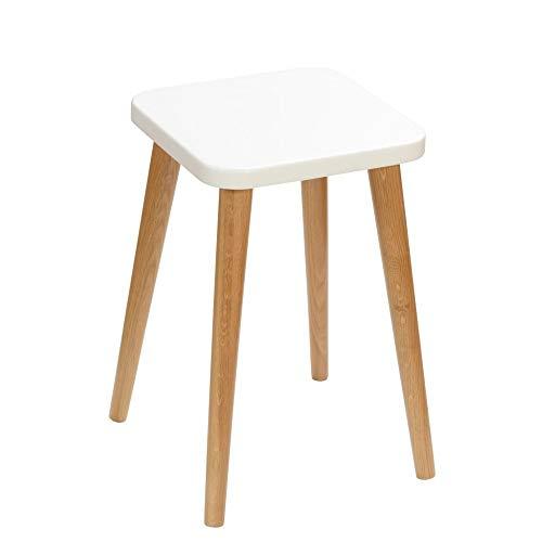BIM Furniture Schemel Crystal White K MoonWood - Taburete cuadrado de madera de roble natural, altura de 47 cm, asiento de 30 x 30 cm, color roble