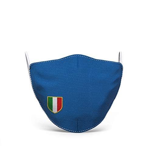 Waschbare Stoffmaske bedruckt 100% Made in Tuscany, herren, verschiedene motive (Scudetto Italien)