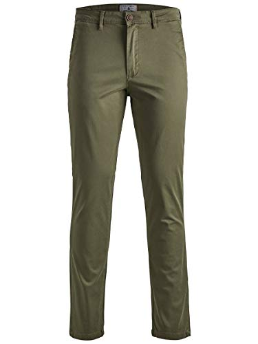 JACK & JONES Herren Slim Fit Chino Marco Bowie SA Olive Night 3232Olive Night