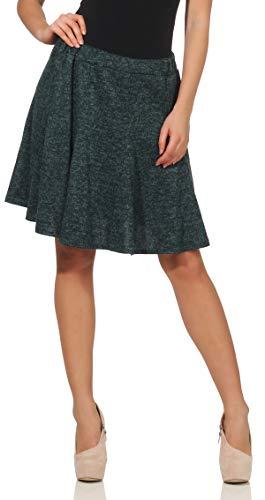 malito dames rok in gemêleerd Design | Klok jurk met rekbare tailleband | Winterrok met vouwen | Hipster rok - Office rok 6914