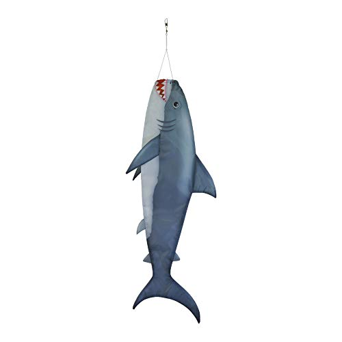 "Breeze In The Shark 30-Inch Fish Windsock großer Fisch-Windsack – realistischer Fischsocken, 76,2 cm Baby Hai, 13"" W H x 3"" D"