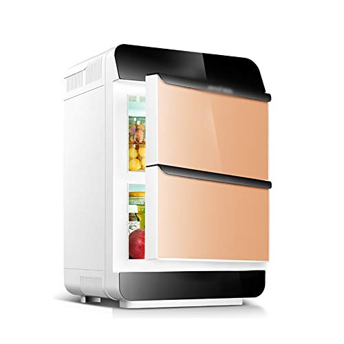 Frigoríficos mini Mini nevera Refrigerador de coches, 25L coche de doble uso dual-core de doble puerta del refrigerador, y vertical horizontal de doble uso, dormitorio Frigorífico, usados para almac