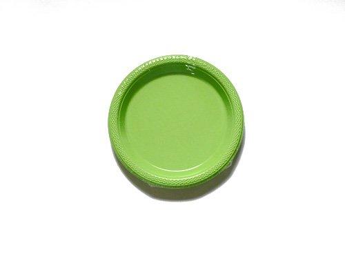 Amscan International 552284–53 borden kunststof 17,5 cm-plaat Plas 17,7 cm: kiwi groen