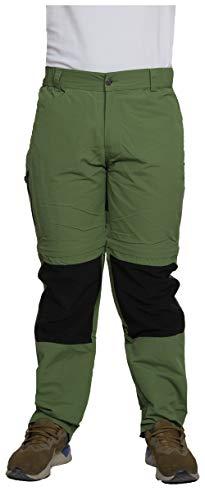 Dobsom Molde Zip Off Pantalon de randonnée pour homme, pantalon de randonnée, trekking et Multipocket Pants, Quickdry, panel stretch, Homme, Vert forêt, 3xl