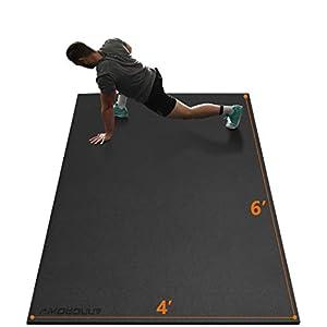 Large Exercise Mat 6'x4'x7mm Workout Mats for Home Gym Mats Gym Flooring Rubber Workout Mat Fitness Mat Large Yoga Mat…