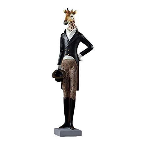 Baoblaze Animal Desktop Decoration Modern Sculpture Statue Animal Art Figurine, with 3 Types to Select - Giraffe