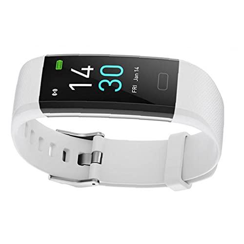 Eaarliyam Smart Watch Fitness Tracker Pulsera S5 Actividad Temperatura Tarifa cardíaca Sueño Impermeable para Mujer Hombres Blanco