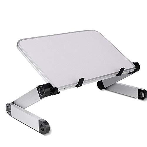 HGFDSA Adjustable Laptop Desk Table, Foldable Aluminum Laptop Stand, Office Laptop Riser, Lightweight Portable for Bed/Sofa/Desk- Best Gift,White