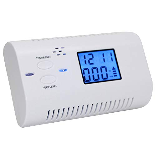 LYTLD Kohlenmonoxid Warnmelder Voice CO Alarm Gasleckdetektor Wabenkohle Gas Nach Hause Auto White