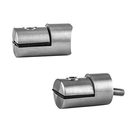 Cosch Edelstahl Plattenhalter Lochblechhalter Ø 25 mm Plattenstärke 1,5-4,0 mm Edelstahl V2A (AISI 304) geschliffen K240 Ø 42,4 mm