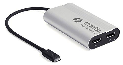 Plugable IRE 3-dual DisplayPort-uitgang Displayadapter voor DVI-3-Windows systemen (alleen Windows, niet Mac-compatibel, ondersteunt twee 4K 60 Hz monitoren of een 5K-monitor)