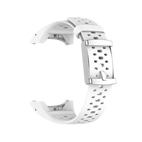 KINOEHOO Correas para relojes Compatible con Polar M400 M430 Pulseras de repuesto.Correas para relojesde siliCompatible cona.(Blanco)