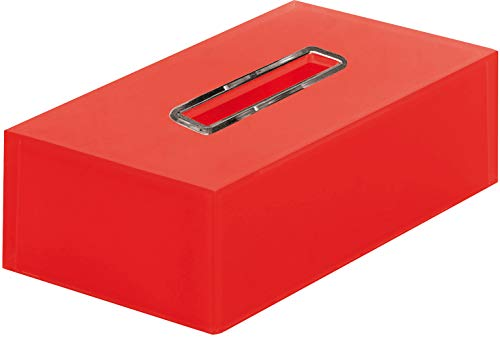 Gedy RA080600000 Porta-Pañuelos, Rojo, Rectangular