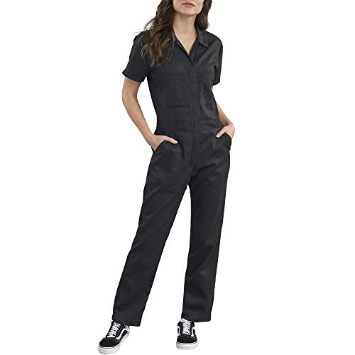 Dickies Women's Short Sleeve Flex Coverall, Black, X-Small