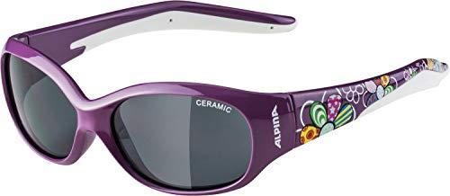 ALPINA FLEXXY KIDS Sportbrille, Kinder, purple flower, one size
