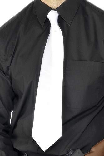 Smiffys Herren Krawatte, Gangster Krawatte, One Size, Weiß, 22869