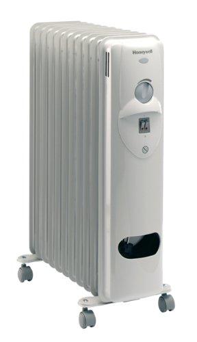 Honeywell HR41125E Radiateur à Bain d'Huile Blanc Nacre / Gris