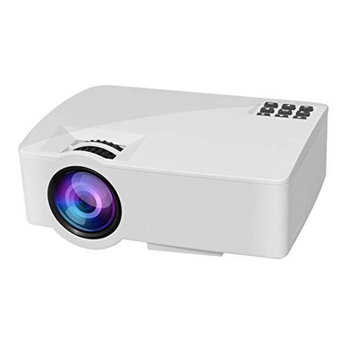SUNHM Mini proyector LED de 800 x 480, 1200 lm, compatible con HDMI y AV y VGA y USB, versión de teléfono móvil (color: blanco)