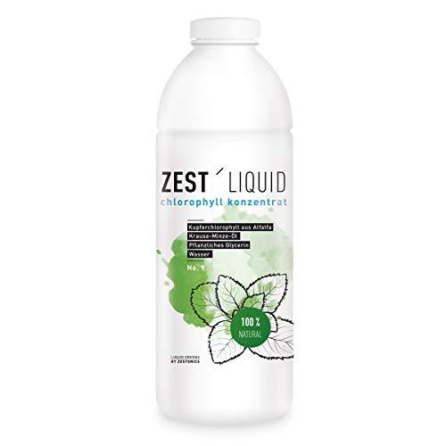 Liquid Chlorophyll aus Alfalfa mit Minzgeschmack- hochdosierter Monatsvorrat -1000ml – Basisch – Flüssiges Chlorophyll – Konzentrat – Made in Germany - 3