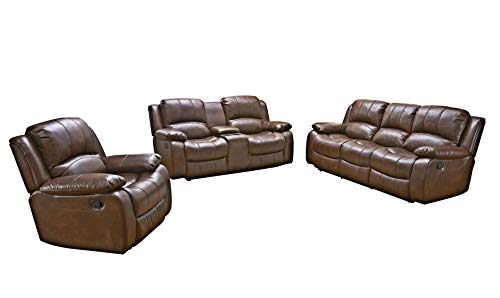 Betsy Furniture 3PC Bonded Leath...