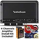 Rockford Fosgate R250X4 Prime 250 Watts 4-Channel Amplifier + 4 Channel Amp Kit