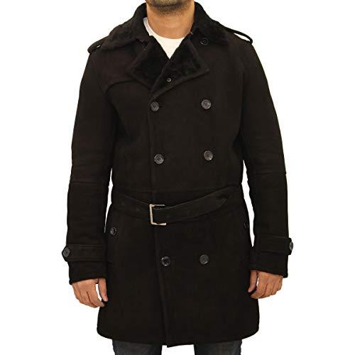 A to Z Leather Abrigo de Piel de Oveja para Hombre, de la A a la Z