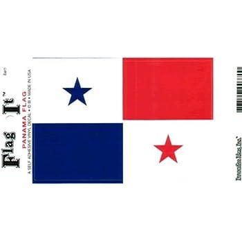 Desert Cactus Panama Country Flag Sticker Decal Variety Size Pack 8 Total Pieces Kids Logo Scrapbook Car Vinyl Window Bumper Laptop Panamanian V