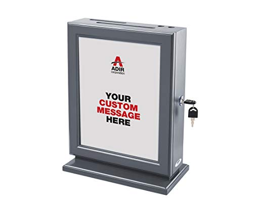 Adir Customizable Wood Suggestion Box - Grey - with 25 Suggestion Cards